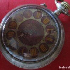 Relojes de bolsillo: RELOJ ROSCKOPF DE BOLSILLO CAJA DE METAL. Lote 172132348