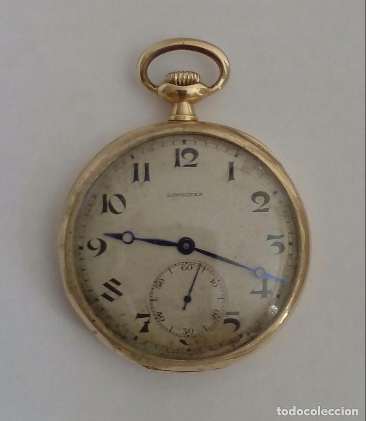 RELOJ DE BOLSILLO LONGINES DE ORO 18 KILATES. (Relojes - Bolsillo Carga Manual)