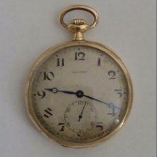 Relojes de bolsillo: RELOJ DE BOLSILLO LONGINES DE ORO 18 KILATES.. Lote 127274391