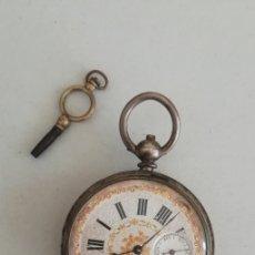 Relojes de bolsillo: RELOJ DE BOLSILLO ANGRE CON LLAVE NO FUNCIONA. Lote 172152193