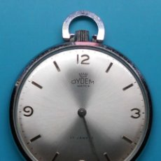 Relojes de bolsillo: RELOJ DE BOLSILLO CARGA MANUAL DYDEM TIPO LENTEJA, FUNCIONANDO. Lote 172188904