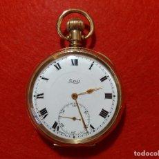 Relojes de bolsillo: RELOJ DE BOLSILLO LIMIT. CHAPADO EN ORO. FUNCIONANDO BIÉN. MADE IN SUIZA.. Lote 172190644