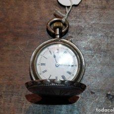 Relojes de bolsillo: RELOJ DE BOLSILLO EN PLATA REMONTOIR CYLINDRE 10 RUBÍS PARA SEÑORA. FUNCIONANDO. Lote 43269537