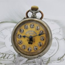 Relojes de bolsillo: COURVOISIER FRERES-RELOJ DE BOLSILLO-ROSKOPF-CIRCA 1900-FUNCIONANDO. Lote 172232309