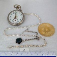 Relojes de bolsillo: LEONTINA PLATA O PLATEADA PARA RELOJ DE BOLSILLO. Lote 172278794