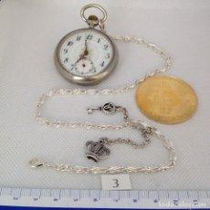 Relojes de bolsillo: LEONTINA PLATA O PLATEADA PARA RELOJ DE BOLSILLO. Lote 172280169
