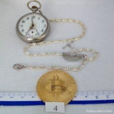Relojes de bolsillo: LEONTINA PLATA O PLATEADA PARA RELOJ DE BOLSILLO. Lote 172282384