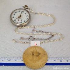 Relojes de bolsillo: LEONTINA PLATA O PLATEADA PARA RELOJ DE BOLSILLO. Lote 172307273