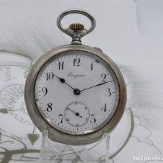 Relojes de bolsillo: LONGINES-RELOJ DE BOLSILLO-CIRCA 1918-FUNCIONANDO. Lote 172389018