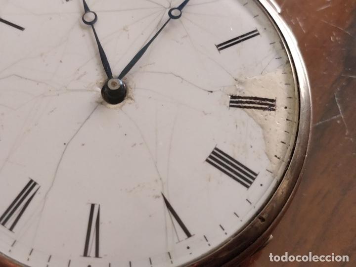 Relojes de bolsillo: Antiguo reloj de plata con sonería y curioso diámetro de la caja - Funcionando pero no la sonería - Foto 6 - 172468948