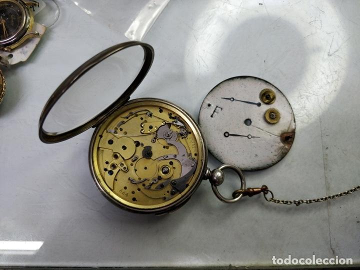 Relojes de bolsillo: Antiguo reloj de plata con sonería y curioso diámetro de la caja - Funcionando pero no la sonería - Foto 7 - 172468948