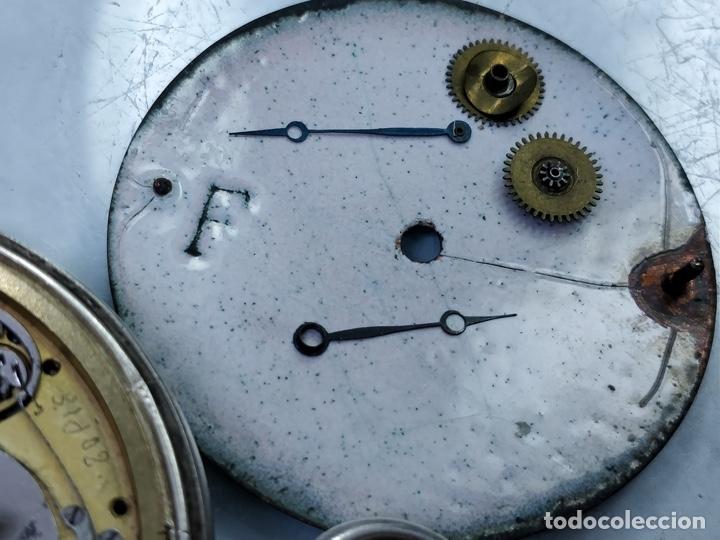 Relojes de bolsillo: Antiguo reloj de plata con sonería y curioso diámetro de la caja - Funcionando pero no la sonería - Foto 12 - 172468948