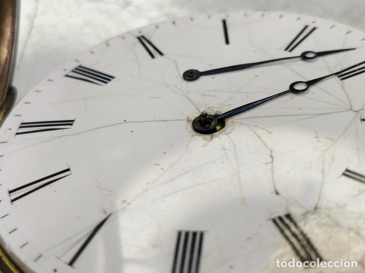 Relojes de bolsillo: Antiguo reloj de plata con sonería y curioso diámetro de la caja - Funcionando pero no la sonería - Foto 17 - 172468948