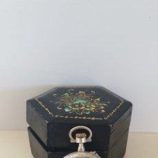 Relojes de bolsillo: RELOJ DE BOLSILLO SRA PLATA DE LEY. Lote 172586679