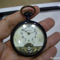 Relojes de bolsillo: HEBDOMAS - 8 DIAS CUERDA - PAVONADO - FUNCIONANDO. Lote 172622125