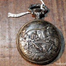 Relojes de bolsillo: RELOJ DE BOLSILLO LIZ CON PRECIOSA CAJA LABRADA. FUNCIONANDO. Lote 55867021