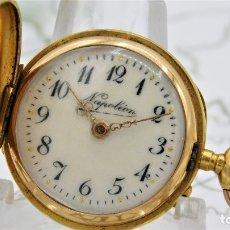 Relojes de bolsillo: RELOJ DE BOLSILLO NAPOLEÓN-SABONETA-DE ORO 18K-CIRCA 1910-FUNCIONANDO. Lote 173093150