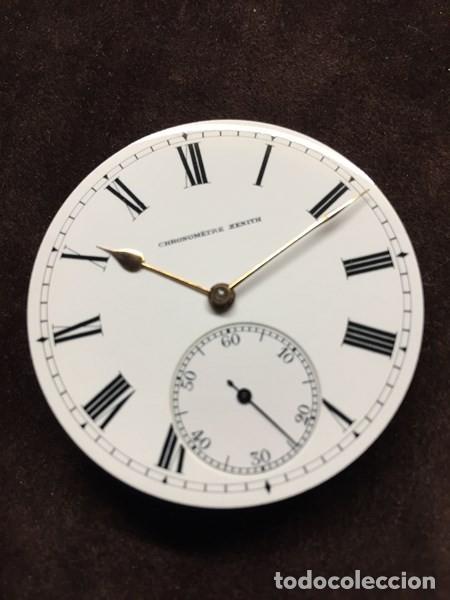 RELOJ DE BOLSILLO ZENITH CON ESFERA PORCELANA CRONOMETER. MUY BUEN ESTADO FUNCIONANDO Y REVISADO. (Relojes - Bolsillo Carga Manual)