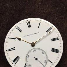 Relojes de bolsillo: RELOJ DE BOLSILLO ZENITH CON ESFERA PORCELANA CRONOMETER. MUY BUEN ESTADO FUNCIONANDO Y REVISADO.. Lote 173209333