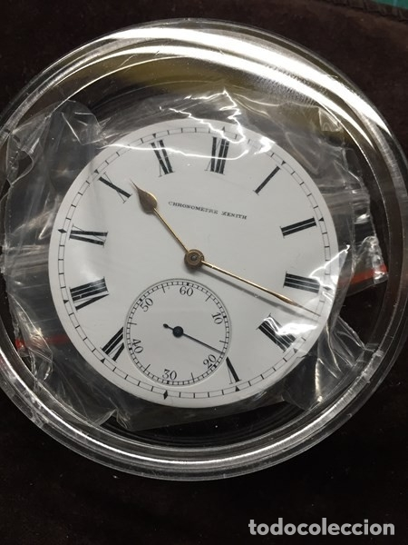 Relojes de bolsillo: Reloj de Bolsillo ZENITH con ESFERA porcelana Cronometer. Muy buen estado Funcionando y revisado. - Foto 2 - 173209333