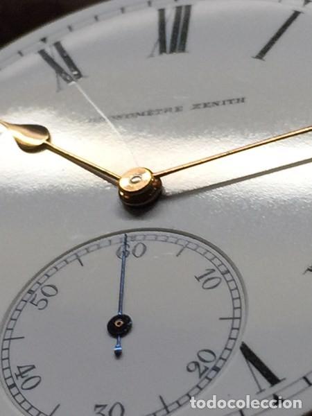 Relojes de bolsillo: Reloj de Bolsillo ZENITH con ESFERA porcelana Cronometer. Muy buen estado Funcionando y revisado. - Foto 4 - 173209333