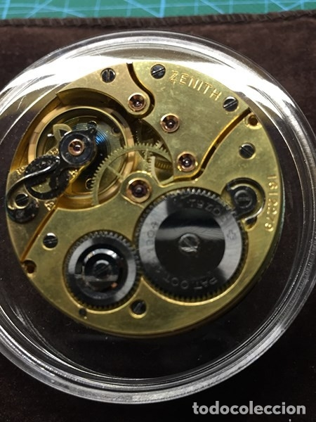 Relojes de bolsillo: Reloj de Bolsillo ZENITH con ESFERA porcelana Cronometer. Muy buen estado Funcionando y revisado. - Foto 5 - 173209333