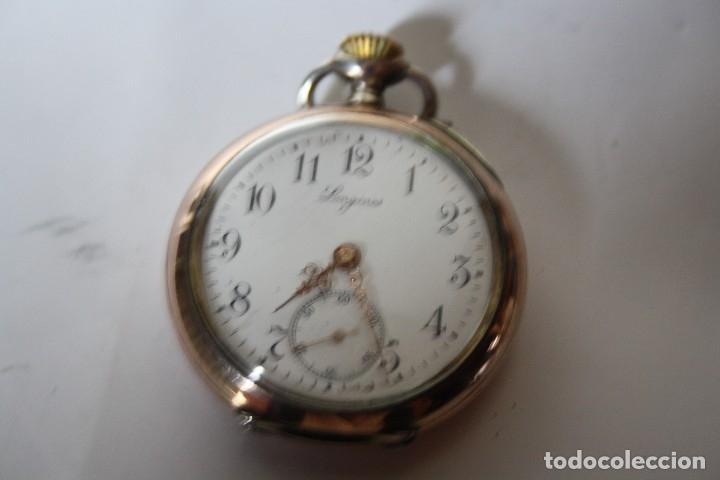 RELOJ DE MONJA DE PLATA ,FUNCIONA LONGINES CON SU JOYERO DE CRISTAL BISELADO (Relojes - Bolsillo Carga Manual)