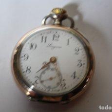 Relojes de bolsillo: RELOJ DE MONJA DE PLATA ,FUNCIONA LONGINES CON SU JOYERO DE CRISTAL BISELADO. Lote 173386878