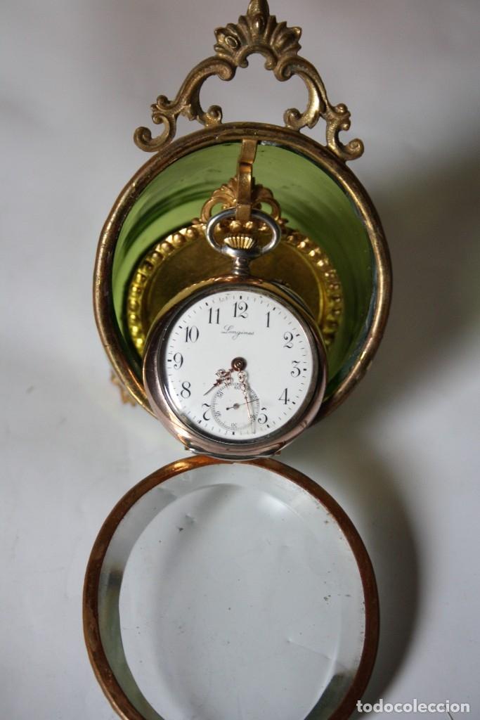 Relojes de bolsillo: RELOJ DE MONJA DE PLATA ,FUNCIONA LONGINES CON SU JOYERO DE CRISTAL BISELADO - Foto 3 - 173386878