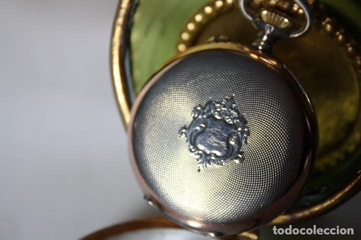 Relojes de bolsillo: RELOJ DE MONJA DE PLATA ,FUNCIONA LONGINES CON SU JOYERO DE CRISTAL BISELADO - Foto 4 - 173386878