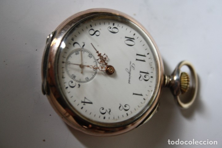 Relojes de bolsillo: RELOJ DE MONJA DE PLATA ,FUNCIONA LONGINES CON SU JOYERO DE CRISTAL BISELADO - Foto 6 - 173386878