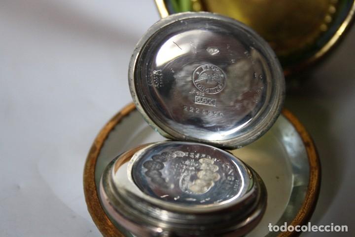 Relojes de bolsillo: RELOJ DE MONJA DE PLATA ,FUNCIONA LONGINES CON SU JOYERO DE CRISTAL BISELADO - Foto 8 - 173386878