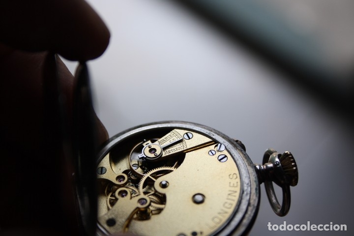 Relojes de bolsillo: RELOJ DE MONJA DE PLATA ,FUNCIONA LONGINES CON SU JOYERO DE CRISTAL BISELADO - Foto 10 - 173386878