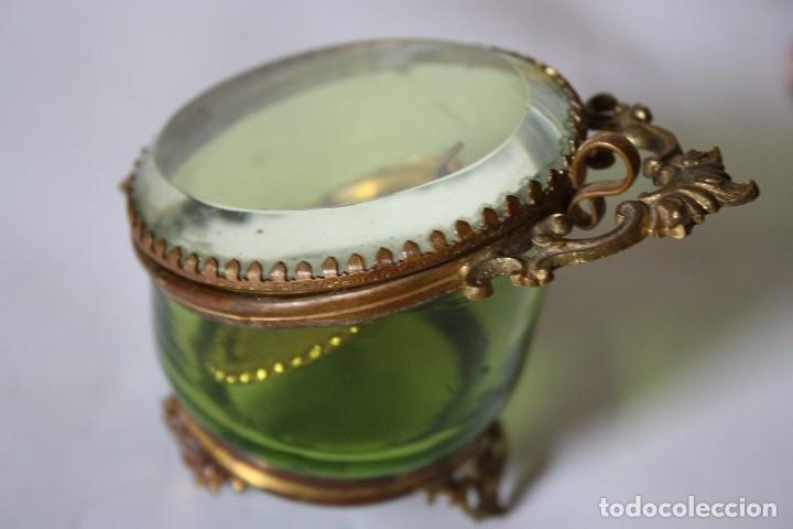 Relojes de bolsillo: RELOJ DE MONJA DE PLATA ,FUNCIONA LONGINES CON SU JOYERO DE CRISTAL BISELADO - Foto 13 - 173386878
