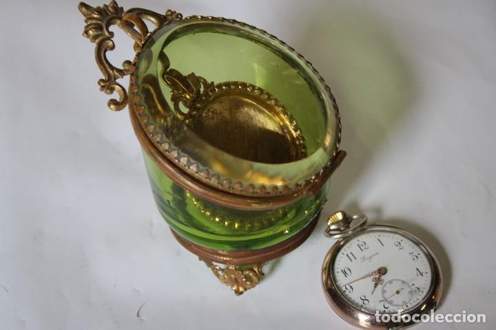 Relojes de bolsillo: RELOJ DE MONJA DE PLATA ,FUNCIONA LONGINES CON SU JOYERO DE CRISTAL BISELADO - Foto 14 - 173386878