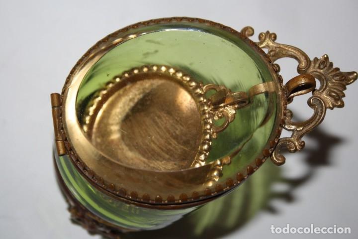 Relojes de bolsillo: RELOJ DE MONJA DE PLATA ,FUNCIONA LONGINES CON SU JOYERO DE CRISTAL BISELADO - Foto 17 - 173386878