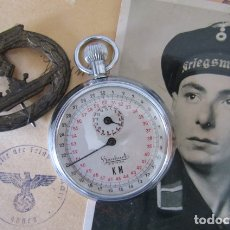 Relojes de bolsillo: ANTIGUO CRONOMETRO MILITAR ALEMÁN II SEGUNDA GUERRA MUNDIAL III REICH USADO POR LA KRIEGSMARINE. Lote 173470044