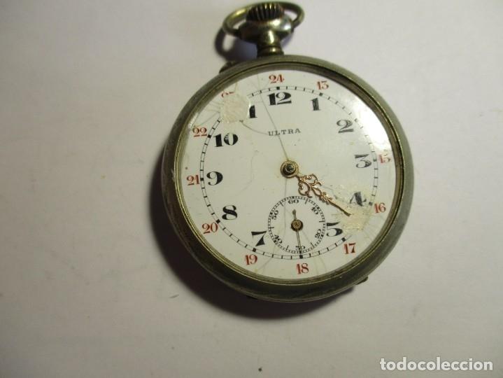RELOJ ULTRA FUNCIONANDO 44 MM SIN CONTAR LA CORONA FALTA CRISTAL Y MINUTERO (Relojes - Bolsillo Carga Manual)