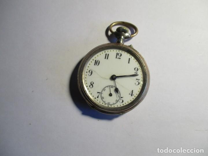 RELOJ DE PLATA FUNCIONANDO TRES TAPAS 46 MM SIN CONTAR LA CORONA (Relojes - Bolsillo Carga Manual)