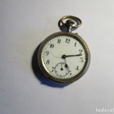 Relojes de bolsillo: RELOJ DE PLATA FUNCIONANDO TRES TAPAS 46 MM SIN CONTAR LA CORONA . Lote 173580148