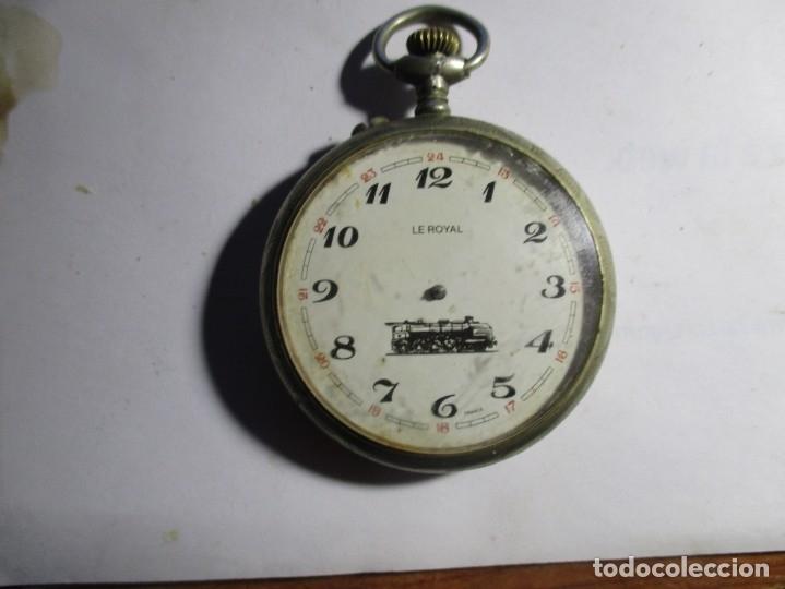 RELOJ DE PLATA REPARAR O PIEZAS NO FUNCIONA 48 MM (Relojes - Bolsillo Carga Manual)