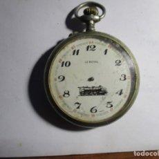 Relojes de bolsillo: RELOJ DE PLATA REPARAR O PIEZAS NO FUNCIONA 48 MM . Lote 173587925