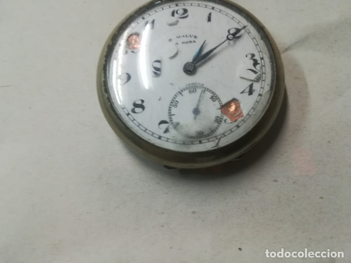 Relojes de bolsillo: RELOJ BOLSILLO CUERDA S.GALVE PARA RESTAURAR - Foto 2 - 173623732