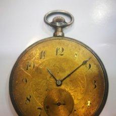 Relojes de bolsillo: RELOJ LONGINES CIRCA 1900 FUNCIONA FALTA CRISTAL RARO PLATA OPORTUNIDAD. Lote 173995022