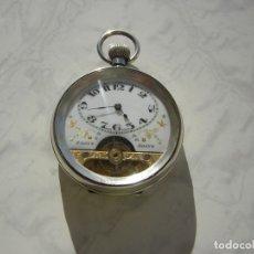 Relojes de bolsillo: RELOJ DE BOLSILLO HEBDOMAS 8 DÍAS-JOURS-DAYS DE PLATA MACIZA AÑO 1919. Lote 174032955