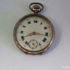 Relojes de bolsillo: RELOJ PLATA REMONTOIR 10 RUBIS. Lote 174087533