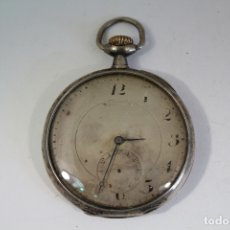 Relojes de bolsillo: RELOJ DE BOLSILLO ANTIGUO DE PLATA LONGINES. Lote 174088083