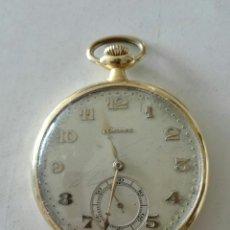 Relojes de bolsillo: RELOJ DE BOLSILLO DE ORO, MARCA LONGINES EN FUNCIONAMIENTO. Lote 174187190