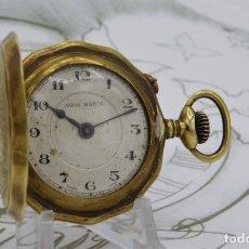 Relojes de bolsillo: RELOJ DE BOLSILLO VIRIS WATCH-ROSKPOF-SABONETA-3 TAPAS-CIRCA 1900-1920-FUNCIONANDO. Lote 174263447