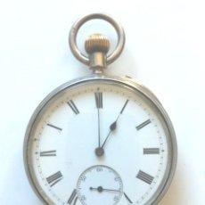 Relojes de bolsillo: RELOJ BOLSILLO DANIEL BUCKNEY KING SQUARE LONDON AÑOS 1900 EN PLATA, FUNCIONA. MED. 50 MM. Lote 174304310
